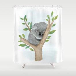 Sleeping Koala Bear Shower Curtain