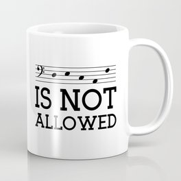 Decaf is not allowed (bass version) Coffee Mug