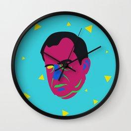 neon nacho nixon Wall Clock