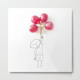 Grapes Ballons Metal Print