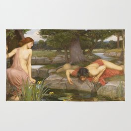 John William Waterhouse - Echo And Narcissus Rug