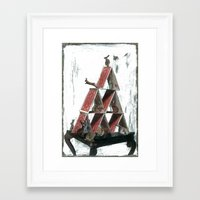 "house of cards Framed Art Prints featuring ""House of Cards"" by kat silver"