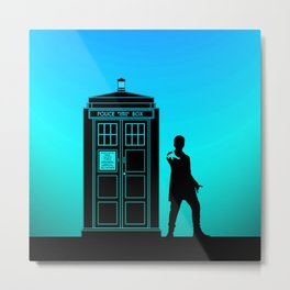 Tardis With The Twelfth Doctor Metal Print