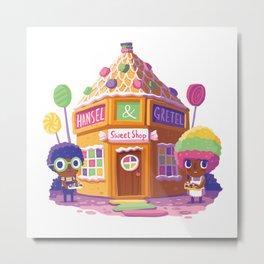 Hansel and Gretel Sweet Shop Metal Print