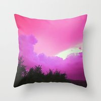 pittsburgh Throw Pillows featuring Pittsburgh Sky by QueenBerfZ