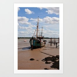 Waiting for the tide. Art Print