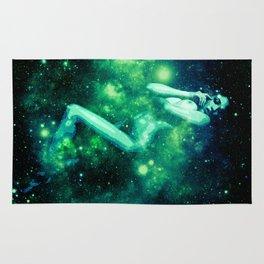 Green Galaxy Woman : Nude Art Rug