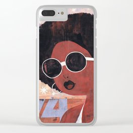 Afro 74 Clear iPhone Case