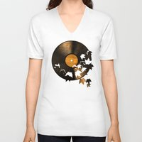 autumn V-neck T-shirts featuring Autumn Song  by Terry Fan
