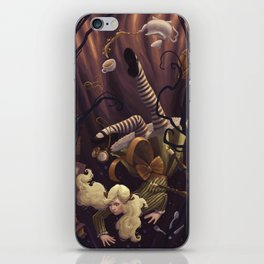 Alice Down the Rabbit Hole iPhone Skin