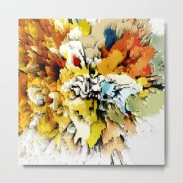 Color Blocks Explosion Metal Print