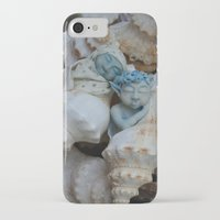 pixies iPhone & iPod Cases featuring Sea pixies by Tracey Burgun