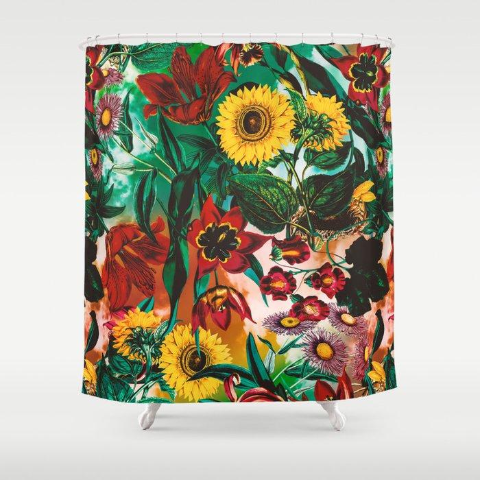 Multicolor Exotic Pattern Shower Curtain by burcukorkmazyurek | Society6