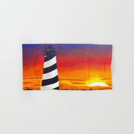 Cape Hatteras Lighthouse Painting Hand & Bath Towel