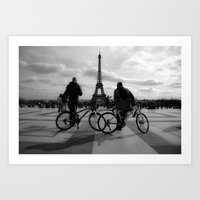 tour de france Art Prints featuring Tour de France by HAUS of SILVA