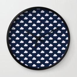 Cloud pattern Wall Clock