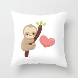 Ilovesloths22 Throw Pillow