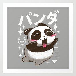 Kawaii Panda Art Print