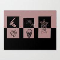 odd future Canvas Prints featuring Odd by Sofia Gerona