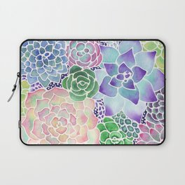 Masked Flora Collection Succulents Laptop Sleeve