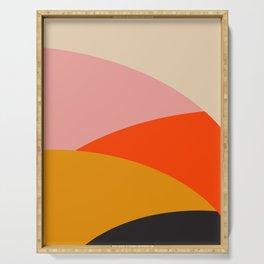 Retro Sun and Waves Print,70's home decor,Mid Century Wall Art,Retro Wall Art, 70's decor Serving Tray