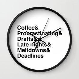 Deadlines Helvetica Wall Clock