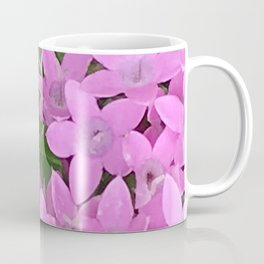 Little Pink Pixie Flowers With Lush Leaves Coffee Mug