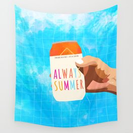 Always Summer #painting #illustration Wall Tapestry