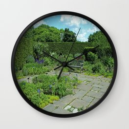 Courtyard Afternoon Wall Clock