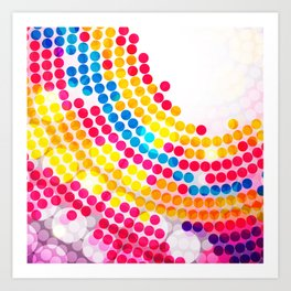 Colorful color Circle Dots Pattern for Girls Art Print
