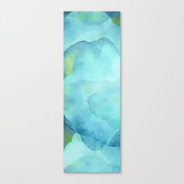 Abstract Blue Ocean Waves  Canvas Print