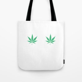 Happy Weed Smiley Face Tote Bag