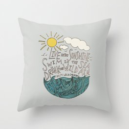 Emerson: Live in the Sunshine Throw Pillow