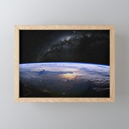 Earth is Round Framed Mini Art Print