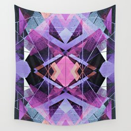 Futuristic Abstract Geometry Wall Tapestry