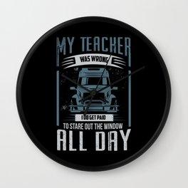 My Teacher Was Wrong Wall Clock