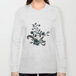 floral girl Long Sleeve T-shirt