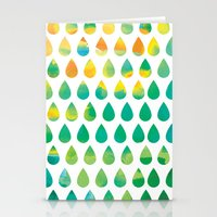 rain Stationery Cards featuring Monsoon Rain by Picomodi
