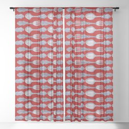 Spoons & Forks Sheer Curtain