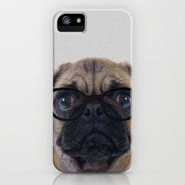 Geek Pug iPhone Case