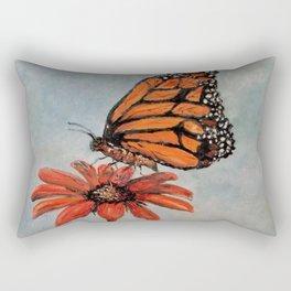 Majestic Monarch Butterfly Rectangular Pillow