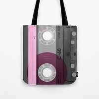 cassette Tote Bags featuring Cassette by Sedef is sketching