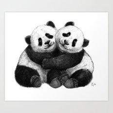 Panda's Hugs G143 Art Print