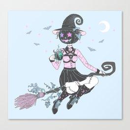 Pumpkin Witch Canvas Print