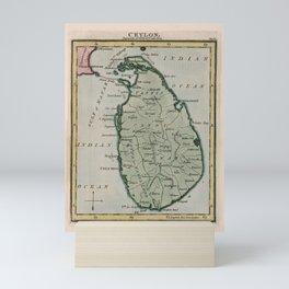 Vintage Map of Sri Lanka (1801) Mini Art Print