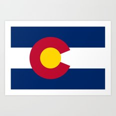 Colorado state flag (High Def file) Art Print