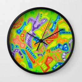 Spring Abstraction #2 Wall Clock