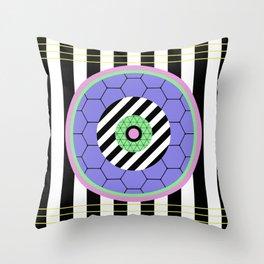 Bold Pastel Geometry Throw Pillow