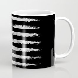 White grunge American flag Coffee Mug