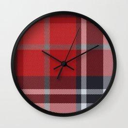Colors Of Christmas (Plaid 4) Wall Clock